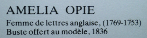 Amelia Opie bust description