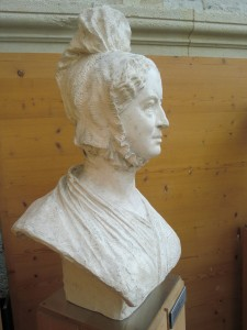 Plaster bust of Amelia Opie