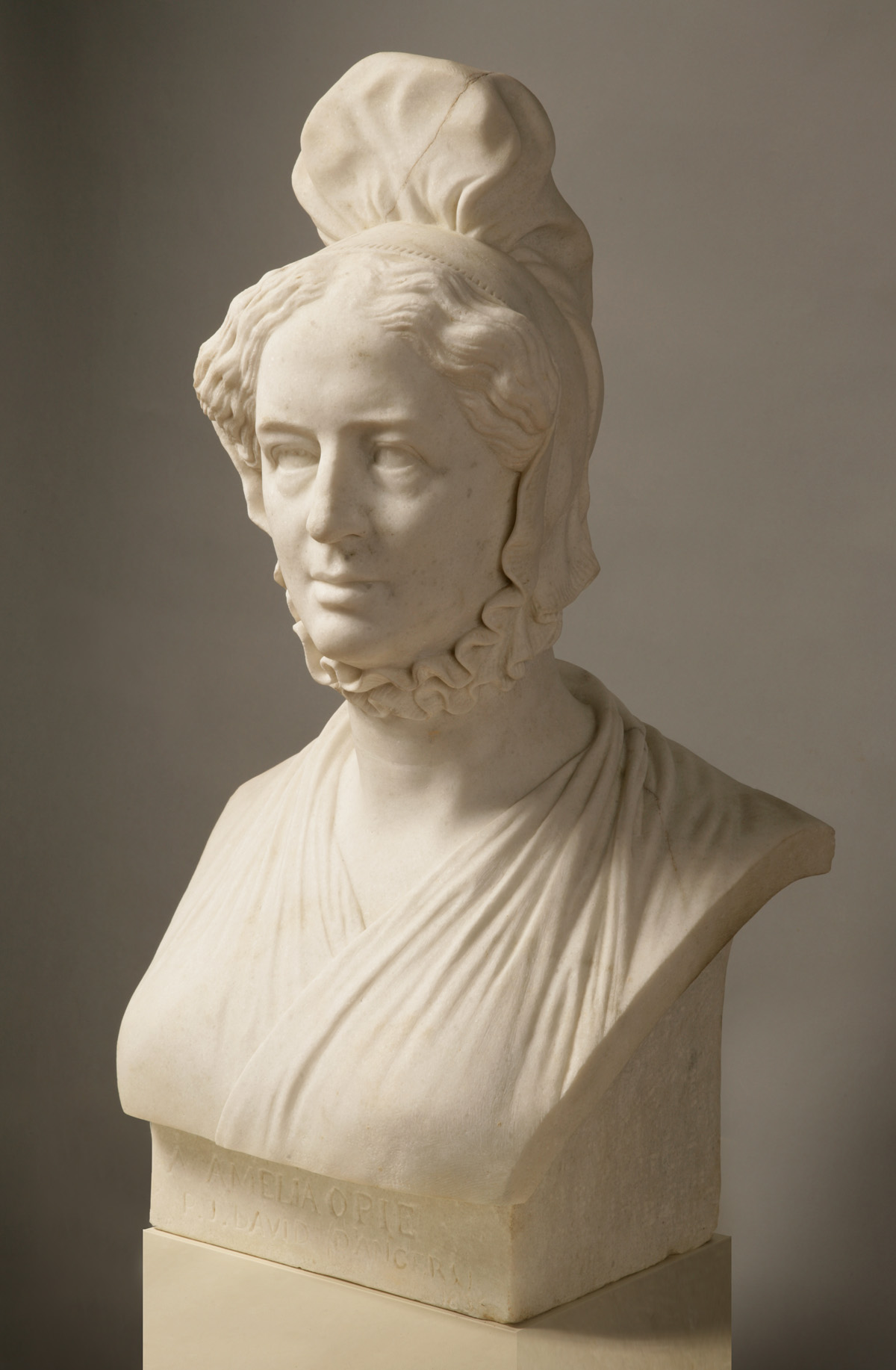 Amelia Opie bust by David d'Angers